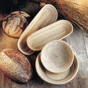 Bild 1 zu Artikel Gärkörbchen-Set rund und oval spezial 1000 g Peddigrohrkörbchen Brotform aus Peddigrohr