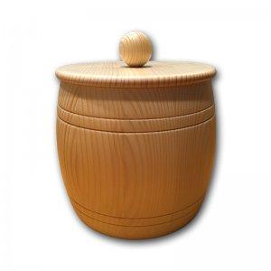 Bild zu  Getreidefass 2 kg aus Massivholz