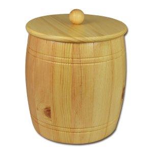 Bild zu Getreidefass 5,0 kg aus massivem Zirbenholz