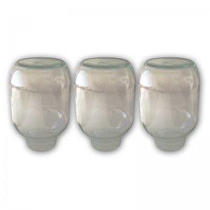 Bild zu 3 Ersatzgläser für den Flaschenkörnerspeicher 1,9 kg