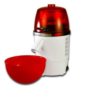 Bild zu  Vorführgerät Getreidemühle hawos Novum mit passender Schüssel rot-weiß
