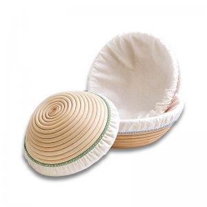 Bild zu Gärkorbbezug aus Baumwolle, rund bis Ø 26 cm