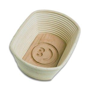 Bild zu  Gärkörbchen oval spezial für 1 bis 1,5kg-Brot mit Stempel SMILEY